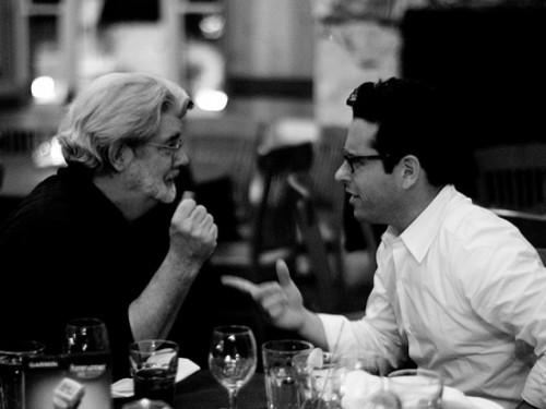 George Lucas and J.J. Abrams via Disney