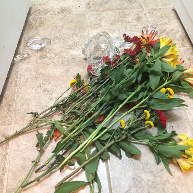 Broken Vase With Flowers Trippin With Tara