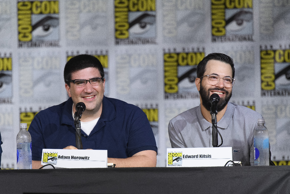 """ONCE UPON A TIME - Executive producers and cast of """"Once Upon a Time"""" were featured at the Comic-Con Convention in San Diego, California, on July 23, 2016. (ABC/Todd Wawrychuk) ADAM HOROWITZ (EXECUTIVE PRODUCER), EDWARD KITSIS (EXECUTIVE PRODUCER)"""