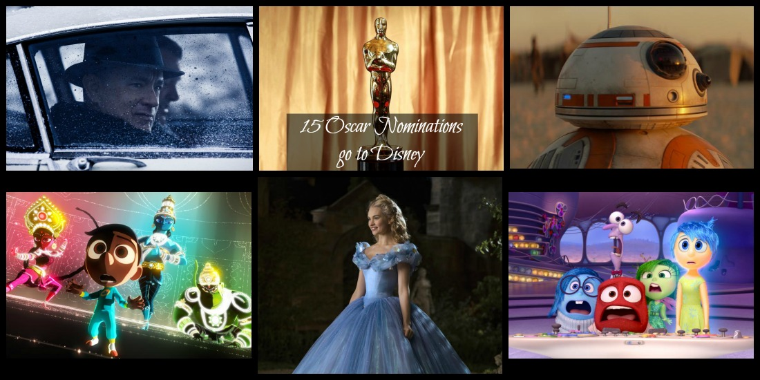 15 Oscar Nominations go to Disney