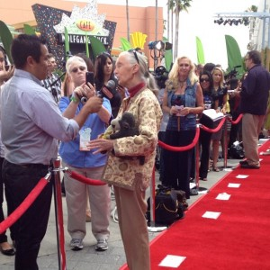 Jane Goodall on the red carpet.