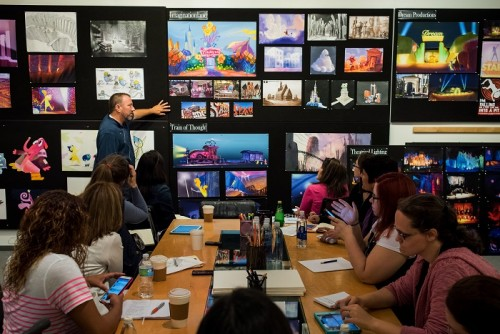 "The ""Inside Out"" Long Lead Press Day, including presentations by Production Designer Ralph Eggleston, as seen on March 31, 2015 at Pixar Animation Studios in Emeryville, Calif. (Photo by Marc Flores / Pixar)"