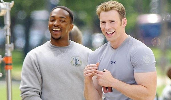 Chris Evan and Anthony Mackie