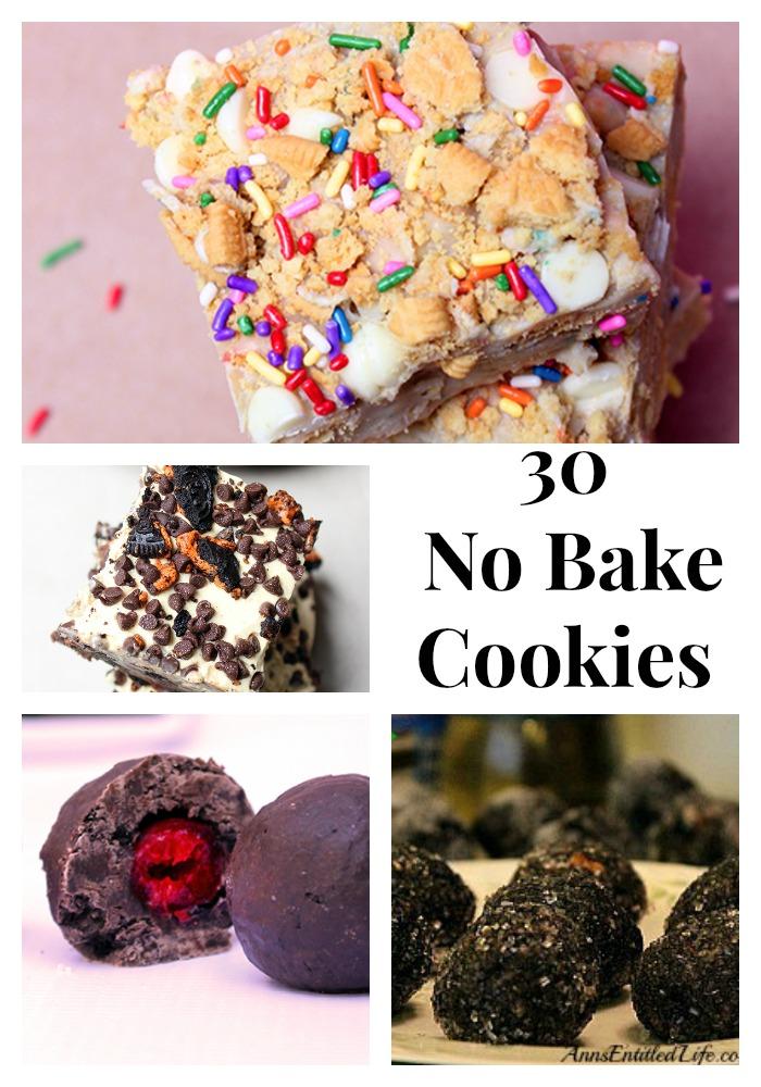 30 No Bake Cookies