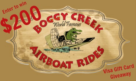 Boggy Creek Airboat Rides Giveaway