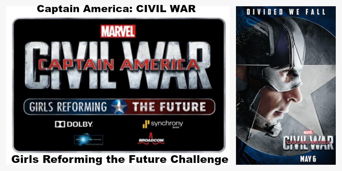 Captain America CIVIL WAR Girls Reforming the Future Challenge