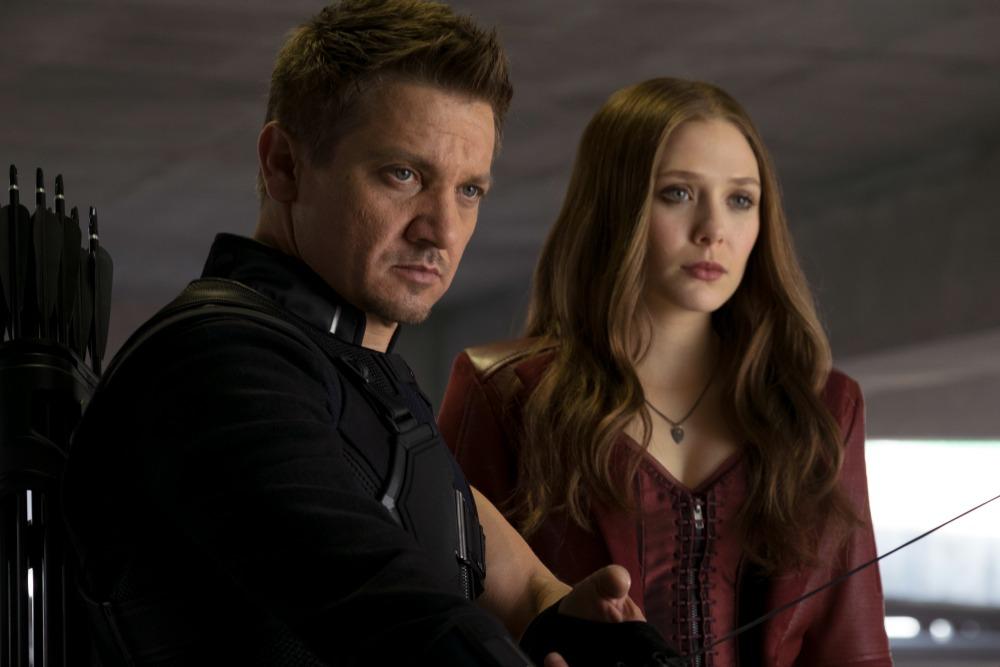 Jeremy Renner and Elizabeth Olsen Civil War