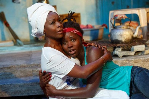 Akosua Busia and Lupita Nyong'o in 'Eclipsed' (Photo: Joan Marcus) via thewrap.com
