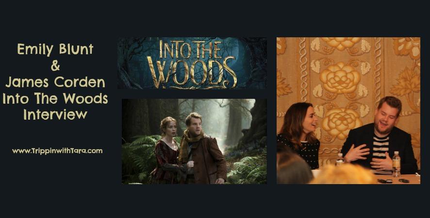 Emily Blunt  &  James Corden Into The Woods Interview