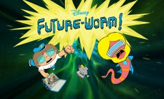 """FUTURE-WORM! - """"Future-Worm!,"""" created by the Emmy Award-winning director Ryan Quincy (""""South Park,"""" IFC's """"Out There""""), is coming to Disney XD in short-form and a newly announced full-length series beginning in fall 2015.  Quincy, who joined the Disney Television Animation team in 2013, is the executive producer. (Disney XD) TITLE CARD"""