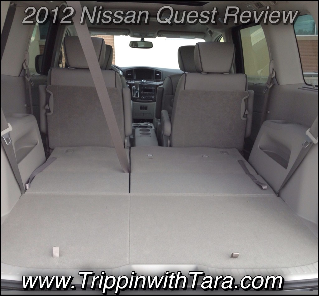 Huge trunk space in the 2012 Nissan Quest