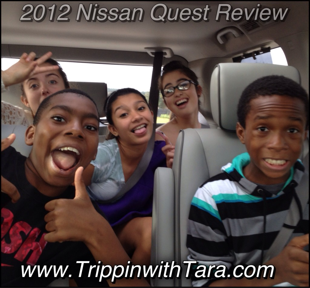 Plenty of room for 5 teens in the 2012 Nissan Quest!