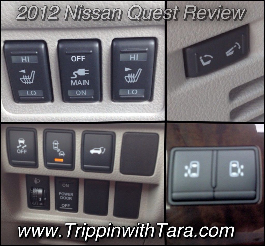 Lots of buttons in the awesome 2012 Nissan Quest