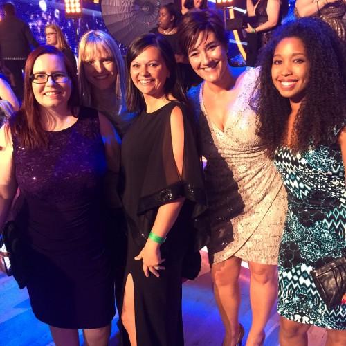 L-R Kas Reasoner, Louise Bishop, Staci Salazar, me and Deanna Underwood