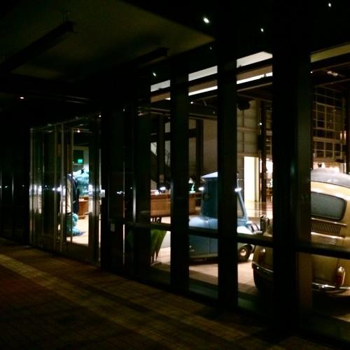 Pixar at night
