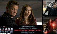 Jeremy Renner and Elizabeth Olsen talk Captain America Civil War