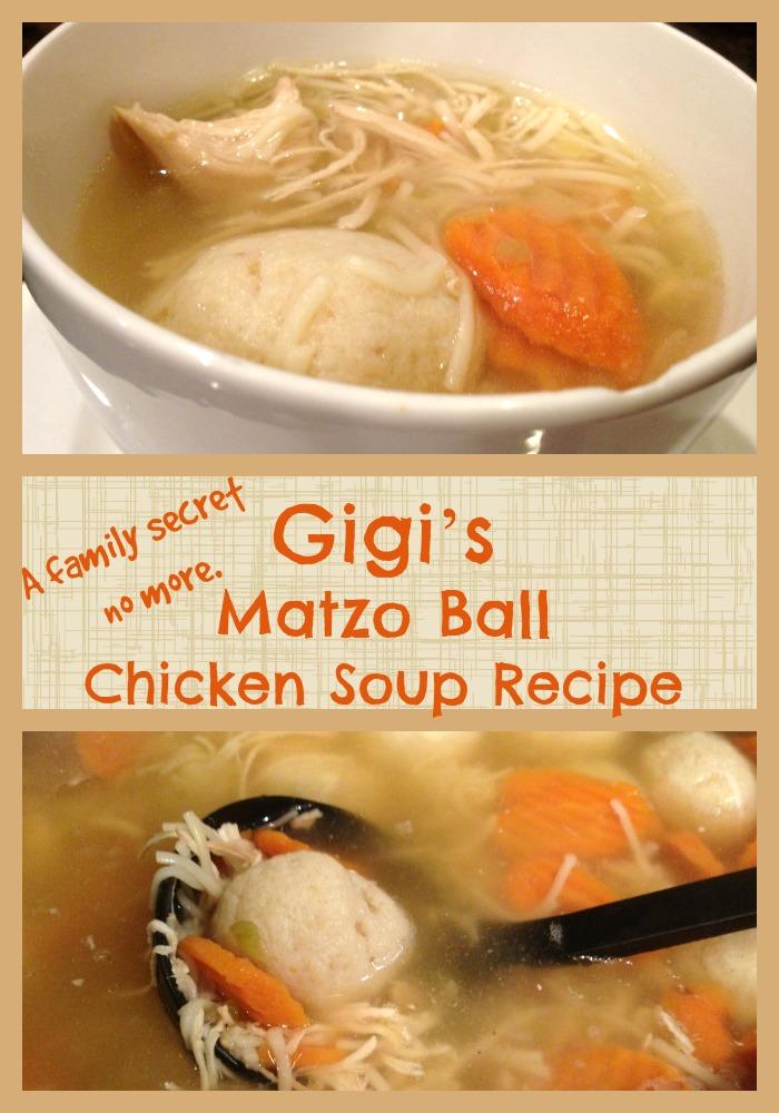 Gigi's Matzo Ball Chicken Soup Recipe!