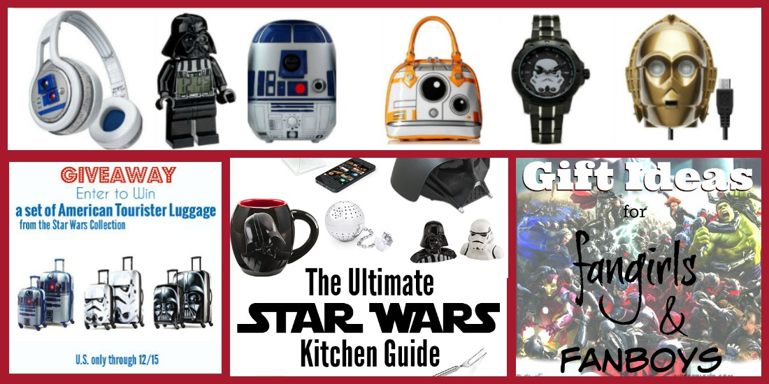 One Stop Star Wars Shopping with Star Wars Luggage Giveaway