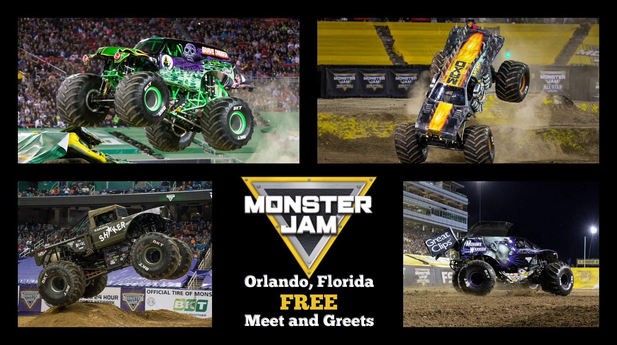 Orlando – See Monster Trucks for Free Next Week