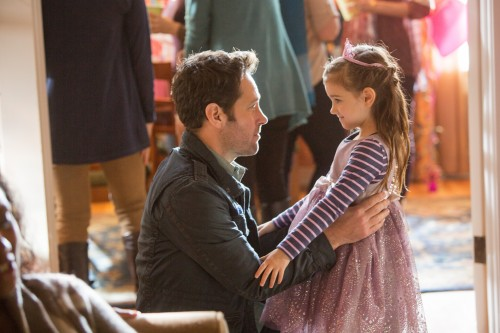 Marvel's Ant-Man L to R: Ant-Man/Scott Lang (Paul Rudd) and Cassie (Abby Ryder Fortson) Photo Credit: Zade Rosenthal © Marvel 2014