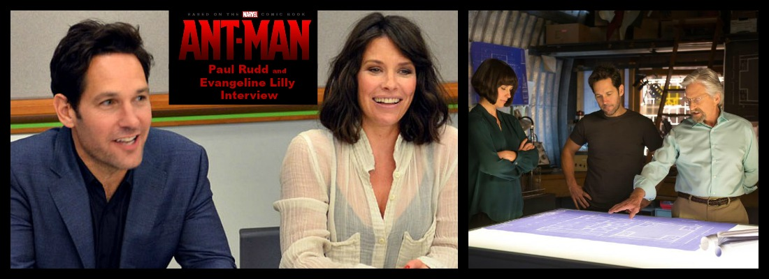 Paul Rudd and Evangeline Lilly Ant-Man Interview