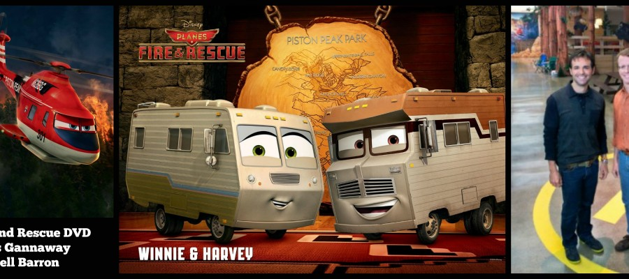 Planes Fire and Rescue DVD with Bobs Gannaway and Ferrell Barron