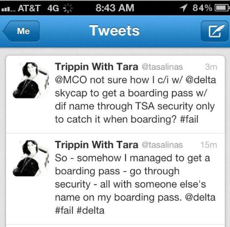 TSA Tweet –