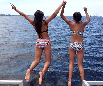 Gabi and Madi jump