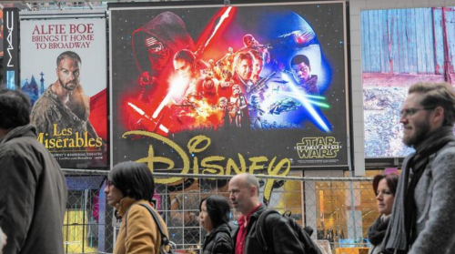 Star Wars in Times Square via Andrew Burton / Getty Images