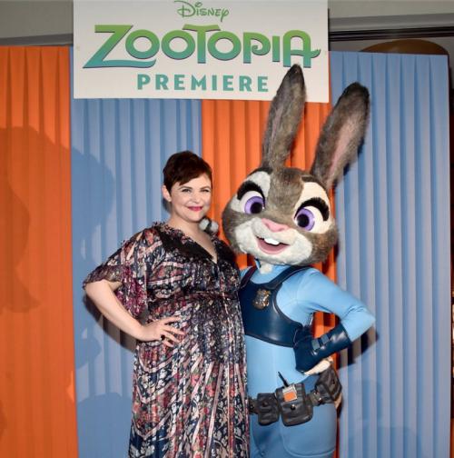Ginnifer Goodwin with Judy Hopps via Disney
