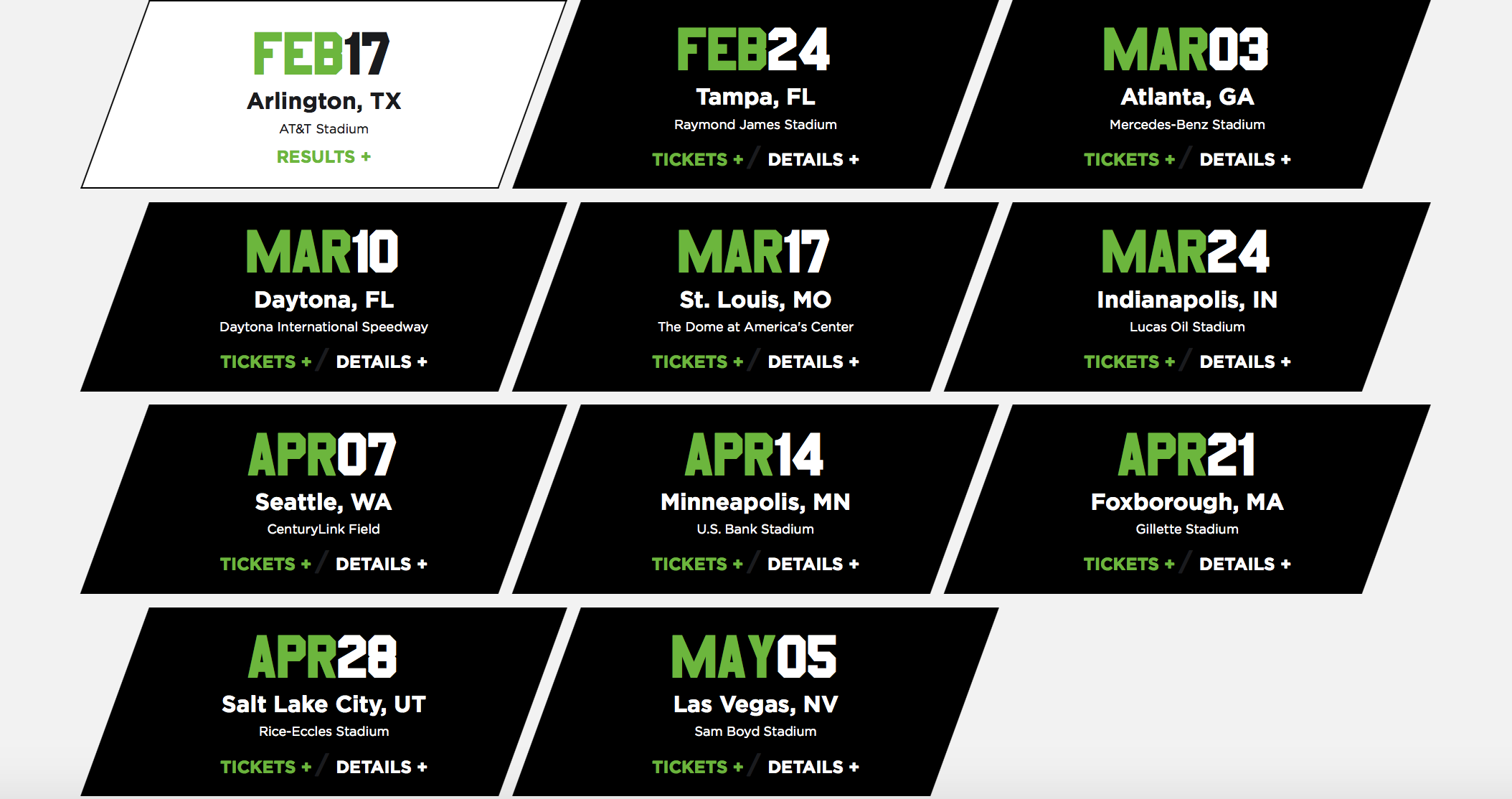 Monster Energy Supercross schedule