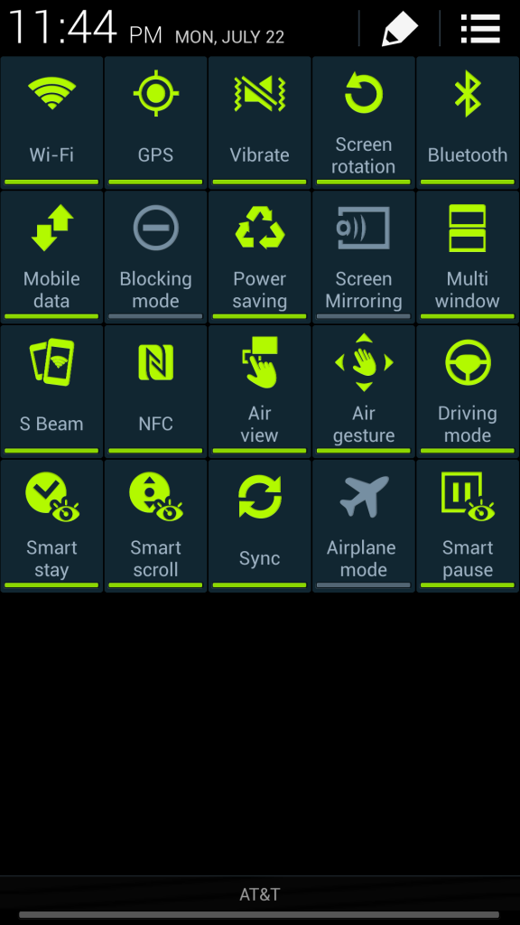 So many features Samsun Galaxy 4S