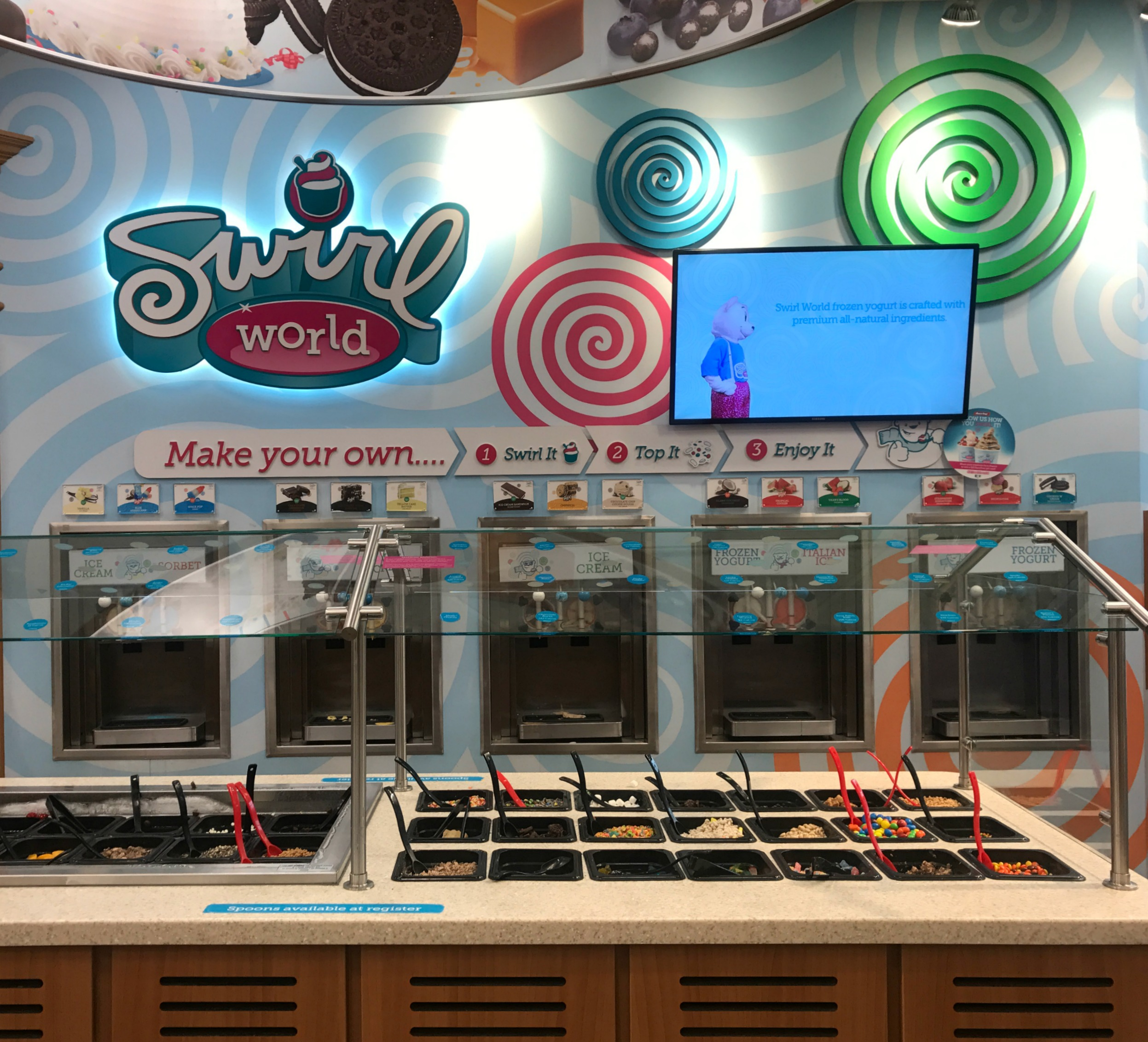Frozen Treat Bar at RaceTrac Swirl World