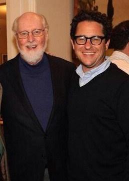 Star Wars VII composer John Williams with Star Wars VII director J.J. Abrams. via makingstarwars.net