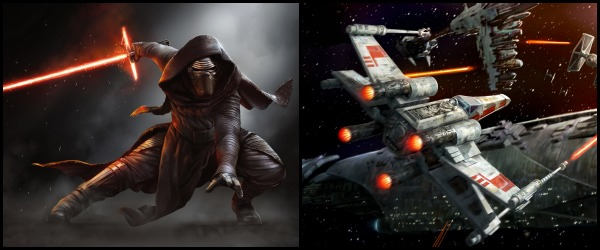 X-Wing fighters and Kylo Ren