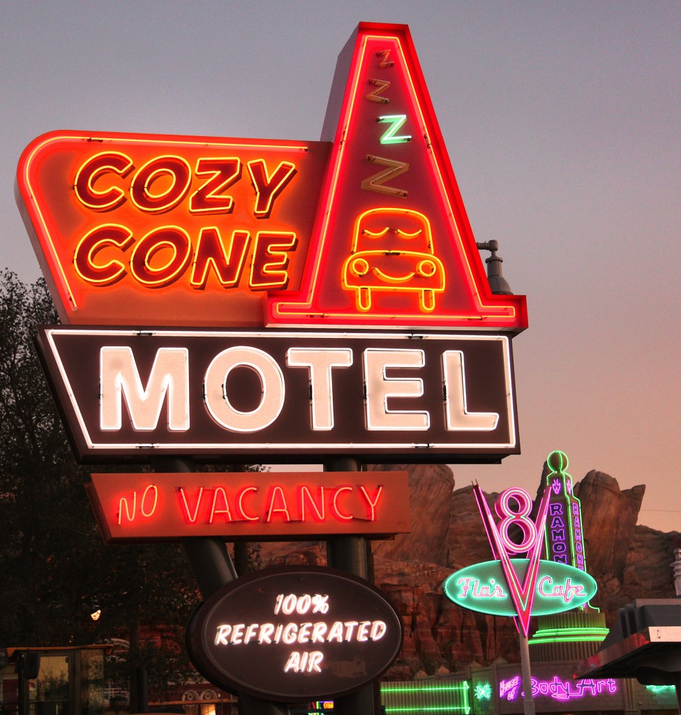 The Neon Lights Of Cars Land!