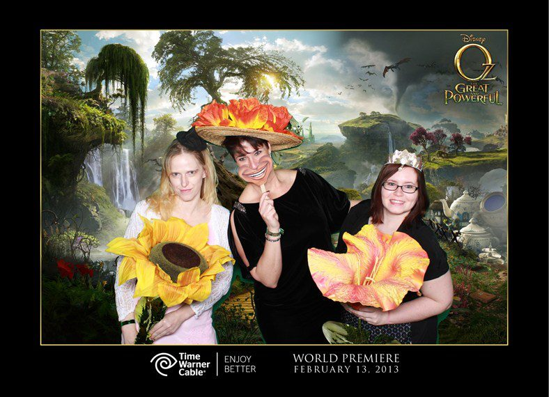 Oz tthe Great and Powerful Premiere El Capitan Theatre fun at the after party with Louise of www.momstart.com and Kas of www.southernbellaswaystosave.com/