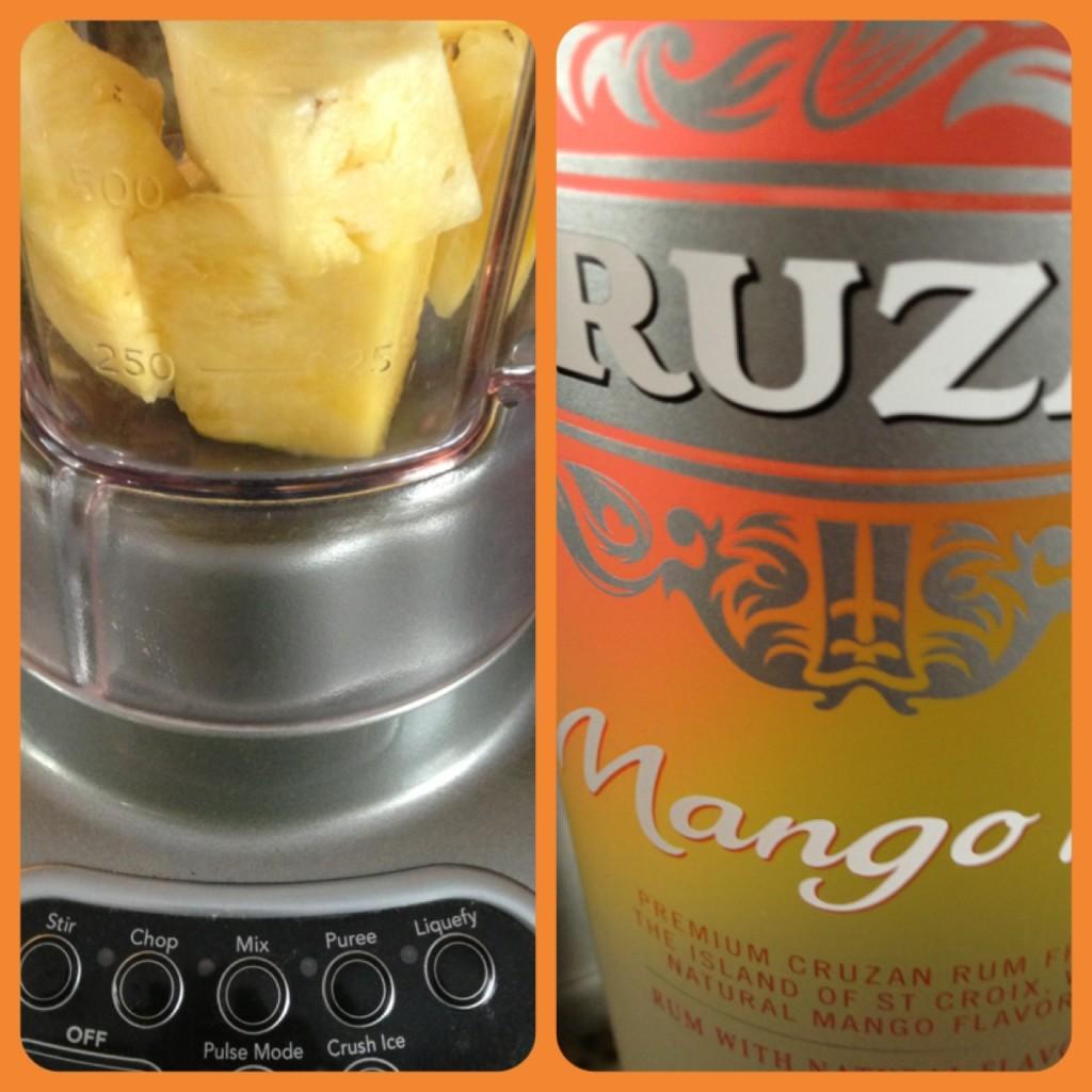 Summer fun Pineapple Mango Rum Popsicle