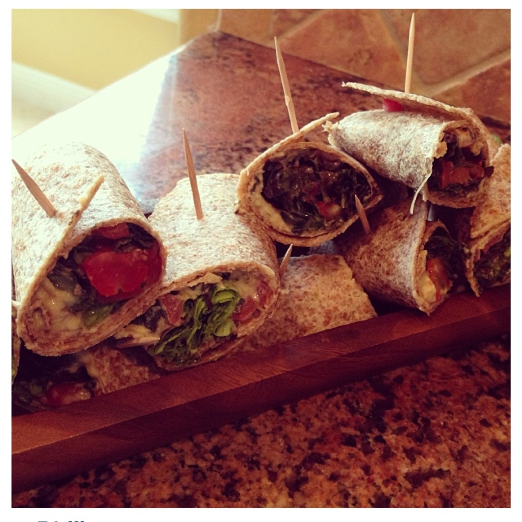 Hummus and vegetable wraps