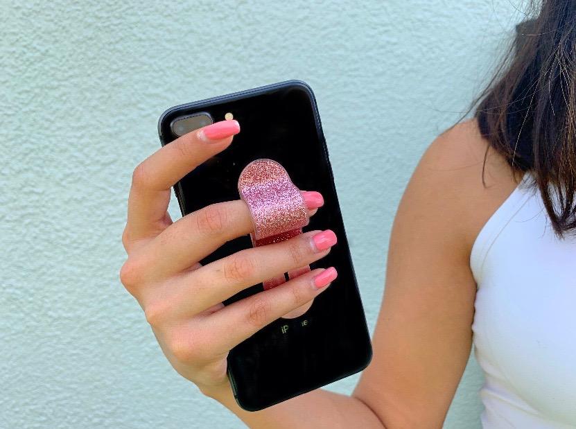 Glitter Pink PhoneFin