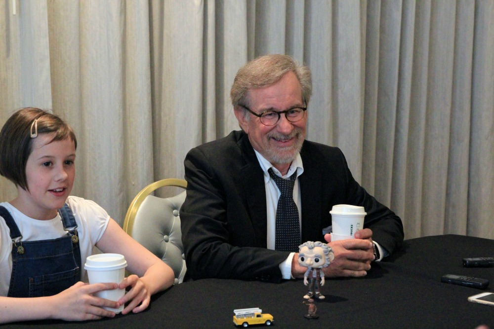 Ruby Barnhill and Steven Spielberg The BFG