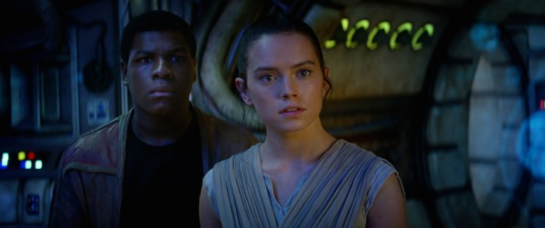 Star Wars: The Force Awakens..L to R: Finn (John Boyega) and Rey (Daisy Ridley)..Ph: Film Frame..? 2014 Lucasfilm Ltd. & TM. All Right Reserved..