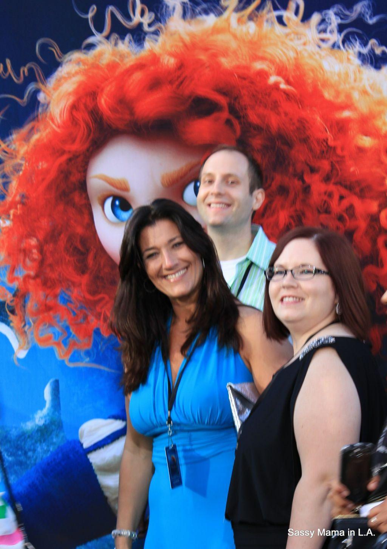 Walking the Green Carpet with Kasandria Reasoner (blogger) and Marshall Weinbaum (Disney PR)