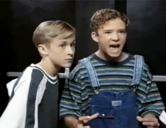 Justin Timberlake and Ryan Gosling Mickey Mouse Club 1993