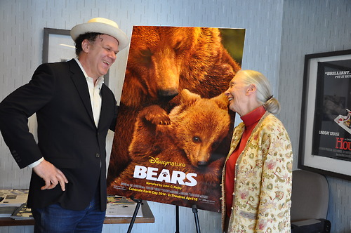 Dr. Jane Goodall and Disneynature's Bears narrator John C. Reilly at the New York Int'l Children's Film Festival (NYICFF) screening this weekend.