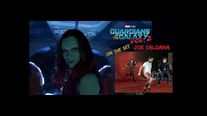 Zoe Saldana Guardians of the Galaxy Vol 2